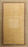 Bordered Oushak Chobi Modern Oriental Area Rug Wool Hand-Knotted 8'x13' Carpet