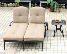 Outdoor Chaise Lounge Elisabeth Patio End Tabel Cast Alumnum Furniture Bronze