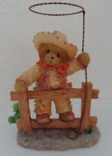 CHERISHED TEDDIES TEX Cowboy On Fence With Lasso - 2005 - Retired