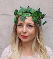 Green Leaf Poison Ivy Headband Headpiece Festival Grecian Roman Laurel Hair 3005