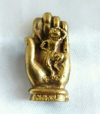 Holy Brass Hand Sun Wukong Fortunately Finance Talisman Buddha Thai amulet.