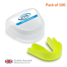 100 x GAME GUARD JUNIOR Mouth Guard, Gum shield, Boxing, Rugby MMA -01-J-MIXEDCL
