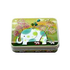 Small Storage Jars Rectangular Iron Tin Gift Jewelry Box Holder Home Decor W5H