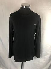 Champion Mens Xl Black L-Sleeve Stretchy Double Dry Active Performance Shirt