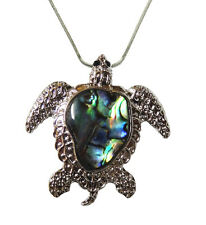 Sea Turtle Abalone Shell Pendant Necklace with 18 Inches Chain Fast Shipping