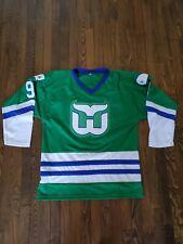 Hartford Whalers GORDIE HOWE NHL Jersey Men's L Green
