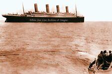 Poster Print SEPIA - 24 x 36: Last Photo Of The Titanic Afloat - April, 1912