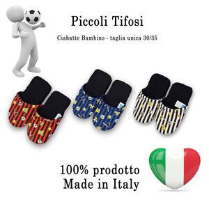 Ciabatte Pantofole in spugna Bambino Tifoso Juve Milan Inter - Made in Italy