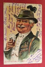 CPA. Tyrolien. Chasseur. Bière. 1910. Schiesserei. Kriagst. Mordsdunschb.