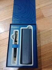 Waterman Expert Ballpoint Pen Black with Gold Trim