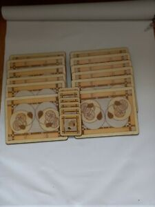 Set of 12  Mackintosh style Place Mats and  6 coasters pimpernel debbie halliday