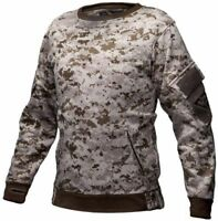 Tactical Recon Military Fleece Sweatshirt Army Combat Pull Over Sweater Digital