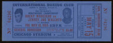 Original Unused 1953 Rocky Marciano vs.Jersey Joe Walcott Boxing Match Ticket
