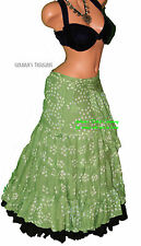Green Jaipur Wrap Skirt Gypsy Tribal Fusion Belly Dancel ATS