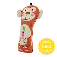 Golf Head Cover Driver Animal Headcover Monkey 440cc Driver PU Leather Protector