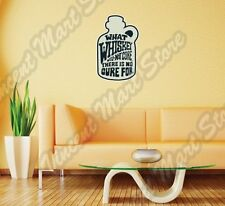 """What Whiskey Will Not Cure Alcohol Wall Sticker Room Interior Decor 20""""X25"""""""