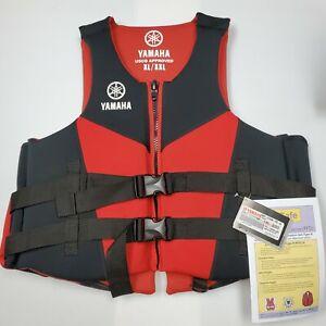 "Yamaha Neoprene Life Vest PFD w Side Handles MAR-21HAN-RD-2L - Chest 44""- 56"""