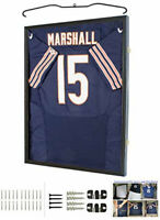 Football Baseball Basketball Jersey Display Case Shadow Box, 98% UV, Lockable