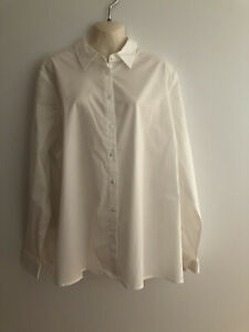 White Long Sleeve Maternity Top / Collar New With Tags ASOS  Size20 Cotton Blend