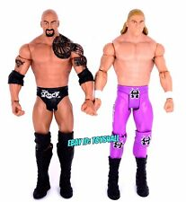 The Rock & Triple H WWE Mattel Basic Wrestling Figure Lot Legends WWF HHH_s17