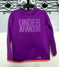 Under Armour Hoodie Girls L Purple Logo Long Sleeve Hooded