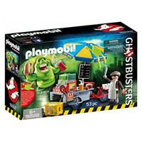Playmobil Ghostbusters Slimer With Hot Dog Stand Building Set 9222 NEW Toys