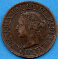 Canada 1895 1 Cent One Large Cent Coin - VF/EF