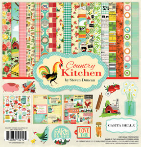 Carta Bella - Country Kitchen 12x12 Scrapbook Kit Papers + Stickers Family Farm