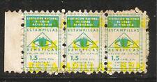 VENEZUELA 1963 ASOCIACION NACIONAL DE CIEGOS ESTAMP BENEFICA X3 RARE
