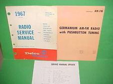 1967 CHEVROLET CORVETTE CHEVELLE SS CORVAIR DELCO AM-FM RADIO SERVICE MANUAL