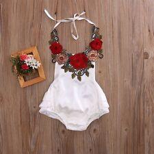 Newborn Infant Baby Girls Silk Rompers Bodysuit Jumpsuit Outfits Sunsuit Clothes