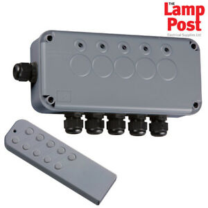 Knightsbridge IP665G Outdoor Remote Control IP66 Electrical Switch Box 5 Way