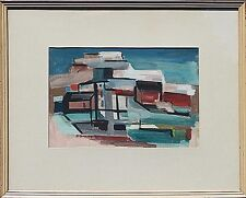 MID-CENTURY MODERN PAINTING ~ CALIFORNIA LISTED ARTIST ~ BERNICE BAILEY ~ 1950's