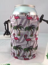 Koozie Holder Necklace Drink Strap Beer Soda Pop Can Bottle Cooler New Flammingo