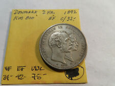 I166 Denmark 1892 2 Krone XF
