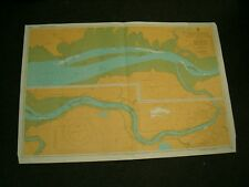 Vintage Admiralty Chart 1540 IRELAND - R. SHANNON  AIRPORT to LIMERICK 1981 edn