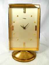 Schöne IMHOF Tischuhr Wecker alarm table clock Swiss made 8 days working 592 Gr.