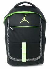 NIKE AIR JORDAN Jumpman School Backpack Book Bag Gym Black Ghost Green NWT