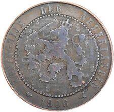 Netherlands Nederland 2 1/2 Cents 1906 KM#134 Wilhelmina (N-15)