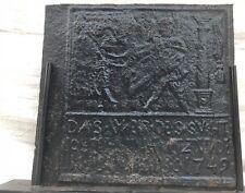 EXCEPTIONALLY IMPORTANT 18TH CENTURY FIREBACK CIRCA 1749 PENNSYLVANIA-RARE!