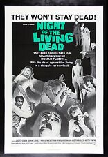 NIGHT OF THE LIVING DEAD * CineMasterpieces MOVIE POSTER ZOMBIE HORROR 1968