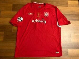 2004-05 Liverpool Reebok Home #10 Luis Garcia Shirt Jersey UEFA Final Istanbul