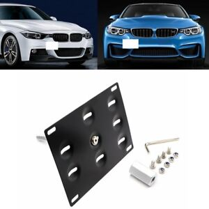 Front Bumper Tow Hook License Plate Mounting Bracket Holder for BMW 1 3 5 Series