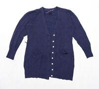 Atmosphere Womens Size 12 Blue Cardigan (Regular)