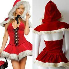 Adult MISS SANTA CHRISTMAS COSTUME LADIES RED SANTA CLAUS OUTFIT ELF FANCY DRESS