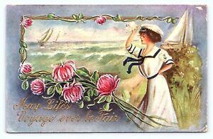 1910 Antique Postcard East Palestine OH Postmark Charles Badders Mayville NY E24
