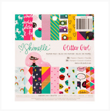 """Glitter Girl 6""""x6"""" Paper Pad - 36 Sheets - American Crafts - Shimelle - Unicorn"""