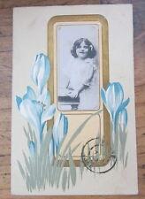 Cartolina d'epoca in rilievo Bambini- 1908 - postcard - tarjeta -