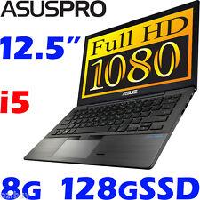 "ASUS-PRO BU201LA Core i5 DurableCarbon 12.5"" FHD 8G 128G SSD Win7 Pro Ultrabook"