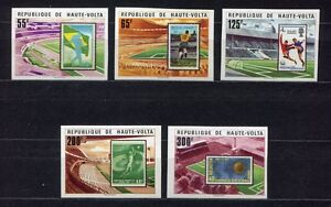 S5245) Haute Volta 1977 MNH Wc Football - CM Football 5v World Cup Stamps Imperf